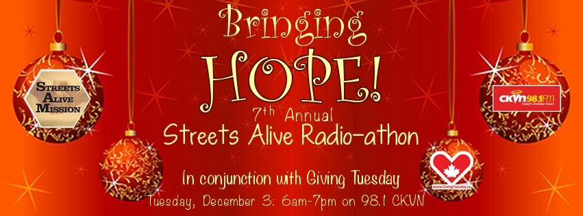 Bringing Hope Radioathon Giving Tuesday