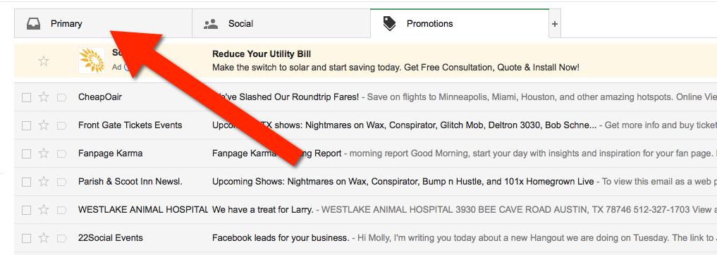 move to primary inbox