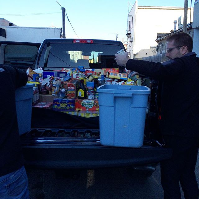 #GivingTuesdayCa in #Lethbridge started with TRUCKLOADS of donations to the PIN Bank and our Food Pantry from local businesses! More pics to come. #yql #givingback #streetsalivela #blessed #wow