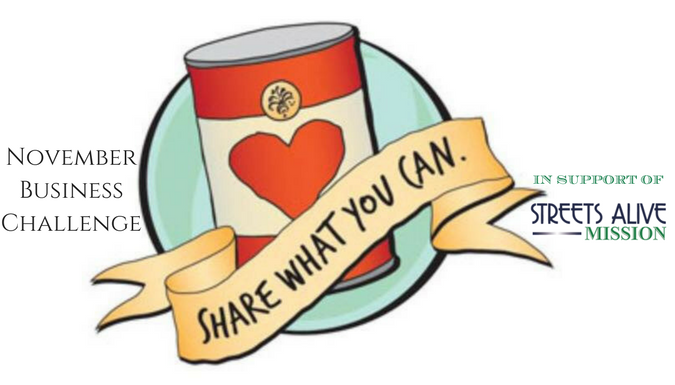 Streets Alive Food Drive - November Business Challenge