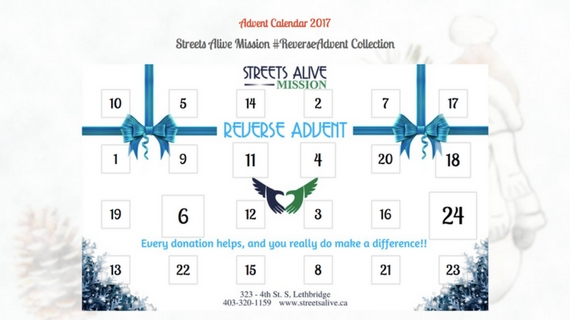 ReverseAdvent 2017 Streets Alive Mission