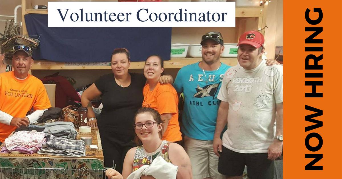 NOW HIRING - Volunteer Coordinator at Streets Alive Mission