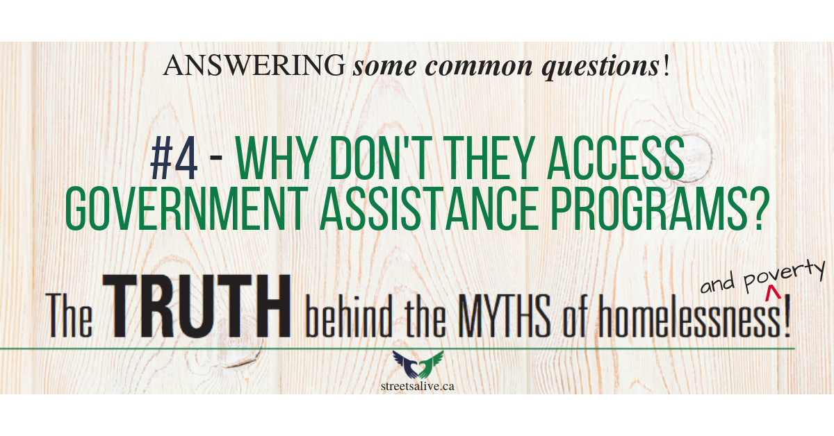 Why don't they access government assistance programs?