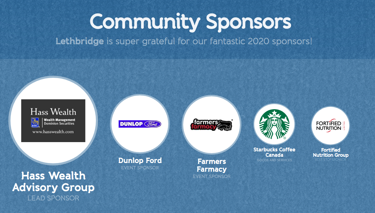 Coldest Night of the Year Lethbridge 2020 Sponsors