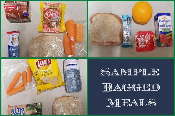 Sample Bagged Meals for Streets Alive Mission
