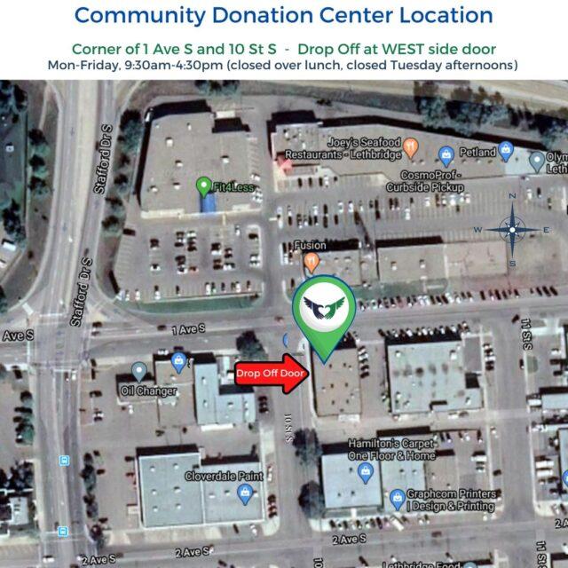 Community Donation Center - Map