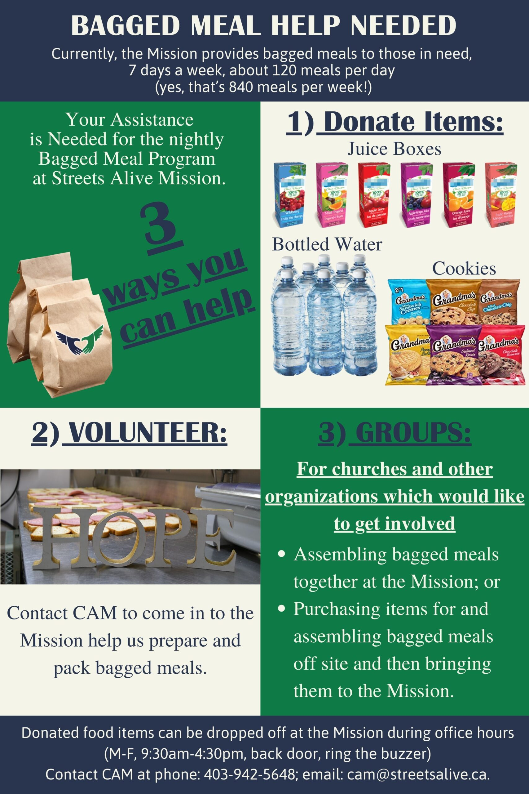 Bagged Meal Support - 3 ways to help