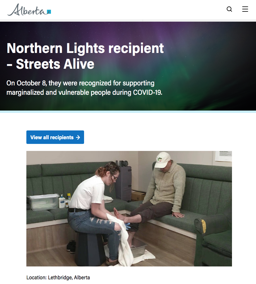 Northern Lights Recipients - Streets Alive Mission
