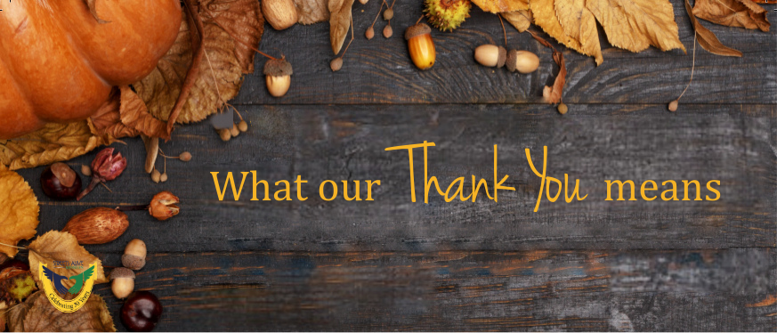 What our Thank You means