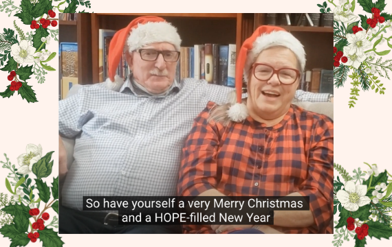 Merry Christmas and HOPE-filled New Year - Ken and Julie - Streets Alive Mission